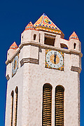 Clock tower at Scottys Castle, Death Valley National Park. California