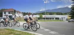 July 16, 2018 - Chambery, FRANCE - British Chris Froome of Team Sky and Team Sky riders pictured in action on the first rest day in the 105th edition of the Tour de France cycling race, in Chambery, France, Monday 16 July 2018. This year's Tour de France takes place from July 7th to July 29th. BELGA PHOTO YORICK JANSENS (Credit Image: © Yorick Jansens/Belga via ZUMA Press)