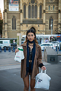 Anny Le, 17, with Krispy Kreme donoughts in Melbourne, Australia<br /><br />(August 31, 2017)