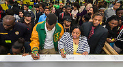 Beam signing ceremony at Worthing High School, December 11, 2014.