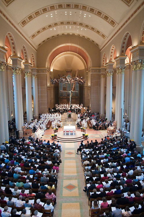 Many gathered at The Cathedral of St. John the Evangelist to witness the ordination of Antony Primal Thomas, Erich Joesph Weiss, Matthew John Widder, and Charles Joesph Wrobel, on Saturday, May 15, 201
