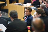 DEU, Deutschland, Germany, Erfurt, 05.12.2014:<br /> Der Fraktionsvorsitzende der Partei Alternative für Deutschland (AfD) in Thueringen, Björn Hocke, am Tag der Wahl des Thueringer Ministerpräsidenten im Plenum des Landtags.