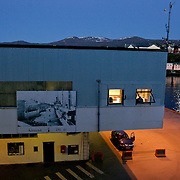 Three weeks aboard the Kong Harald. Hurtigruten, the Coastal Express. Night arrival in Alesund.