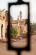 Mausoleum at Christian cemetery in Casablanca, Morocco.The Cimetière el-Hank.