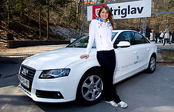 Sara Isakovic, Slovenian swimmer  when her sponsor Zavarovalnica Triglav d.d. decided to rebuild children playground, on March 22, 2012, in Notranje Gorice, Slovenia. (Photo by Vid Ponikvar / Sportida.com)
