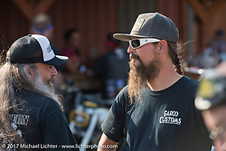 Pat Patterson at his Led Sled Sportster Show at the Buffalo Chip during the annual Sturgis Black Hills Motorcycle Rally. SD. USA. Tuesday August 8, 2017. Photography ©2017 Michael Lichter.