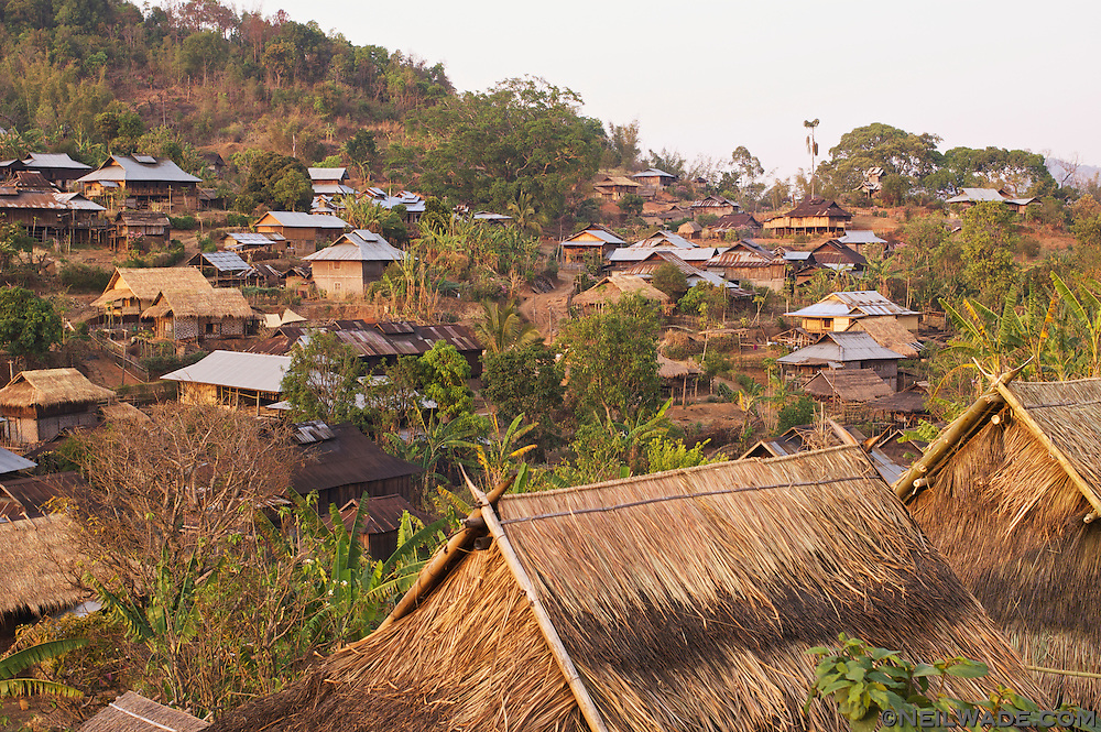 A small hill village in the hills near Hspaw, Myanmar.