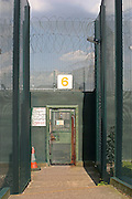 External security gate number 6 at HMP Downview.