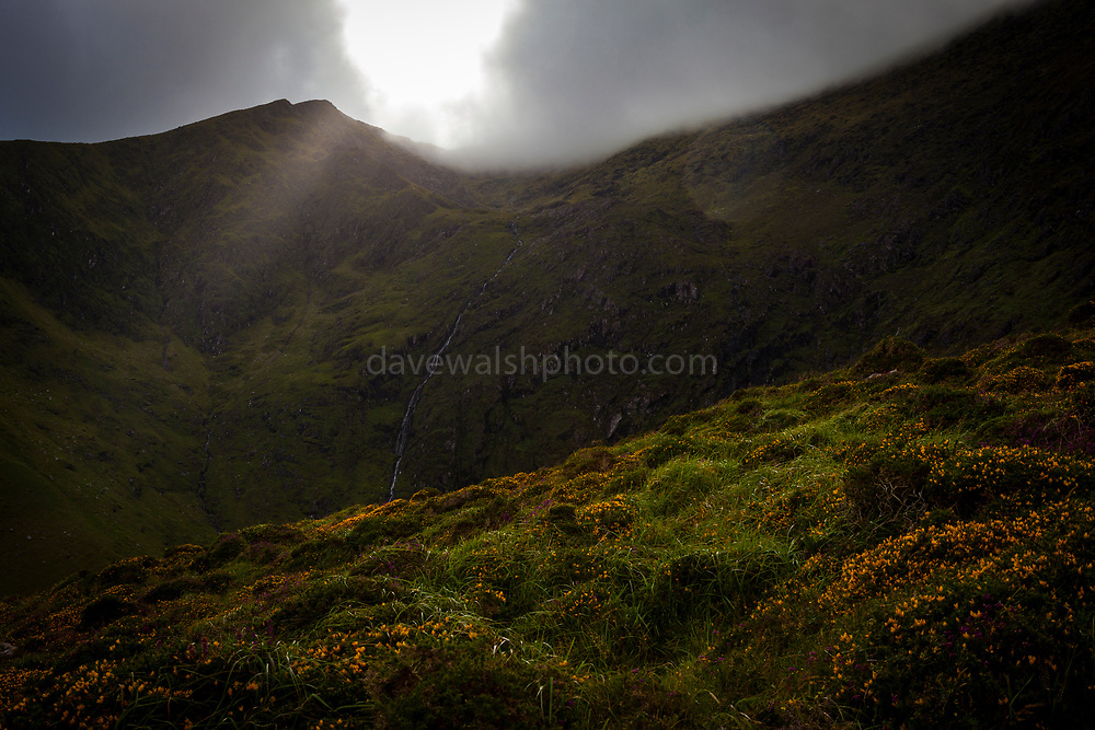 """Hiking in Abha Mhor valley, Cloghane, Kerry, Ireland This mage can be licensed via Millennium Images. Contact me for more details, or email mail@milim.com For prints, contact me, or click """"add to cart"""" to some standard print options."""