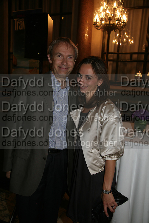 Luke and Lisa Johnson, 10th Anniversary of Conde Nast Traveller magazine. Foreign and Comonwealth Office. Durbar Court. 10 September 2007. -DO NOT ARCHIVE-© Copyright Photograph by Dafydd Jones. 248 Clapham Rd. London SW9 0PZ. Tel 0207 820 0771. www.dafjones.com.