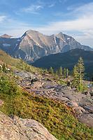 Rainbow Peak seen from Boulder Peak. Glacier National Park