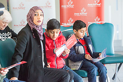 His wife Furheen, and boys Seffi and Adam. Anas Sarwar delivered a major speech and present his vision for Scotland's future, at DoubleTree by Hilton Hotel, Edinburgh.