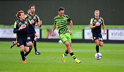 Arthur Read of Stevenage chases down Aaron Collins of Forest Green Rovers- Mandatory by-line: Nizaam Jones/JMP - 17/10/2020 - FOOTBALL - innocent New Lawn Stadium - Nailsworth, England - Forest Green Rovers v Stevenage - Sky Bet League Two