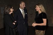 LUIGI MARAMOTTI, IWONA BLAZWICK, Peter Doig  was the fourth artist to receive the  annual Art Icon award. Whitechapel Gallery. London.  26 january 2017