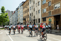 Peloton in Ljubljana during 1st Stage of 26th Tour of Slovenia 2019 cycling race between Ljubljana and Rogaska Slatina (171 km), on June 19, 2019 in  Slovenia. Photo by Vid Ponikvar / Sportida
