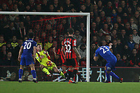 Football - 2016 / 2017 Premier League - AFC Bournemouth vs. Leicester City<br /> <br /> Leonardo Ulloa of Leicester City has a shot on goal which was saved by Bournemouth's Artur Boruc Dean Court (The Vitality Stadium) Bournemouth<br /> <br /> COLORSPORT/SHAUN BOGGUST