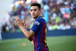 August 15, 2018 - Barcelona, Spain - Munir during the presentation of the team 2018-19 before the match between FC Barcelona and C.A. Boca Juniors, corresponding to the Joan Gamper trophy, played at the Camp Nou, on 15th August, 2018, in Barcelona, Spain. (Credit Image: © Joan Valls/NurPhoto via ZUMA Press)