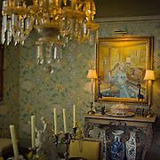 Dining room.  Private home of retired set designer.