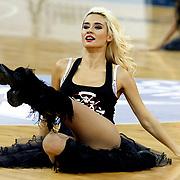Anadolu Efes's show girls during their Turkish Airlines Euroleague Beskatball Top 16 Game 3 Anadolu Efes between Alba Berlin at Abdi Ipekci Arena in Istanbul Turkey on Friday 11 January 2013. Photo by Aykut AKICI/TURKPIX