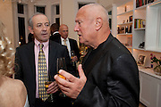 DAN TOPOLSKI; STEVEN BERKOFF, Mrs. Richard Briggs at home.  Sloane Gardens. London. 20 October 2011. <br /> <br />  , -DO NOT ARCHIVE-© Copyright Photograph by Dafydd Jones. 248 Clapham Rd. London SW9 0PZ. Tel 0207 820 0771. www.dafjones.com.