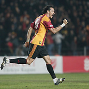 Galatasaray's Servet CETIN celebrate his goal during their Turkey Cup Group A matchday 3 soccer match Galatasaray between Beypazari Sekersporat the AliSamiYen stadium in Istanbul Turkey on Tuesday 11 January 2011. Sports fans, knee collapsed and the world of European giants 'hell' as a name from the Ali Sami Yen stadium to play matches with Turkey Sekerspor Beypazari Cup farewell. Sports, 47-year sanctuary 'goodbye,' he says. Photo by TURKPIX