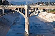 The North Broadway-Buena Vista Street Bridge, Los Angeles River, Los Angeles, California, USA
