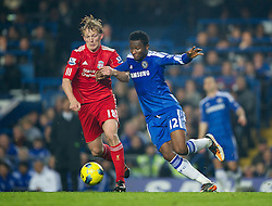 20.11.2011, Stamford Bridge Stadion, London, ENG, PL, FC Chelsea vs FC Liverpool, 12. Spieltag, im Bild Liverpool's Dirk Kuyt in action against Chelsea's John Mikel Obi during the Premiership match at Stamford Bridge, London, United Kingdom on 20/11/2011<br /> <br /> ***NETHERLANDS ONLY***
