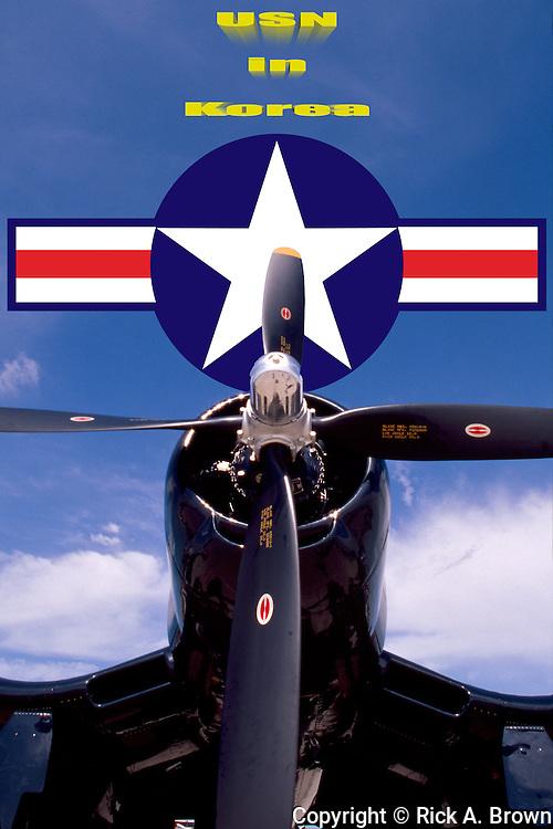 A Chance Cought F4U-4 Corsair of the Cavanaugh Flight Museum, Addison, Texas.