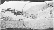 """RGS 2-8-0 #10 was a pusher on a freight when the Upper Gallagher trestle collapsed.<br /> RGS  MP 57, CO  10/1906<br /> In book """"RGS Story, The Vol. XII: Locomotives and Rolling Stock"""" page 25<br /> See RD155-039 & -040 for related photos."""