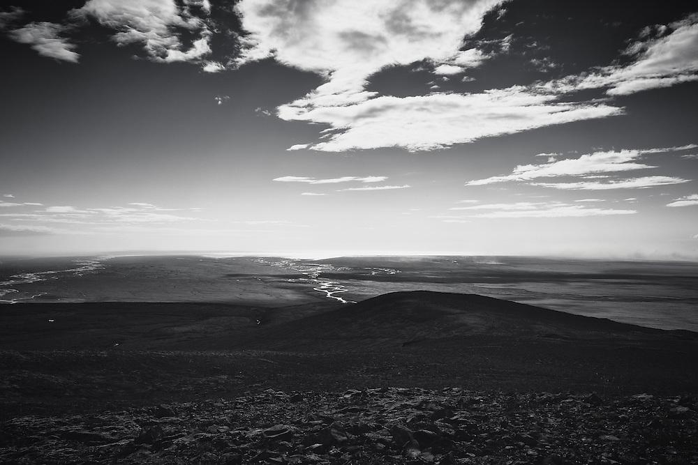 Skeidararsandur and the Atlantic from Skaftafell