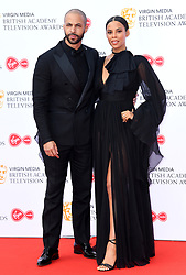 Marvin Humes and Rochelle Humes attending the Virgin Media BAFTA TV awards, held at the Royal Festival Hall in London. Photo credit should read: Doug Peters/EMPICS
