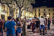 One evening in the historic center of Palermo