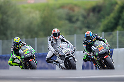 12.08.2016, Red Bull Ring, Spielberg, AUT, MotoGP, NeroGiardini Grand Prix von Oesterreich, Training, im Bild v.l.: Pol Espargaro (ESP) Monster Yamaha Tech 3, Yonny Hernandez (GBR) Pull & Bear Aspar Team, Bradley Smith (GBR) Monster Yamaha Tech 3 // f.l.: Spanish MotoGP rider Pol Espargaro of Monster Yamaha Tech 3, British MotoGP rider Yonny Hernandez of Pull & Bear Aspar Team, British MotoGP rider Bradley Smith of Monster Yamaha Tech 3  during the Practice of the Austrian MotoGP Grand Prix at the Red Bull Ring in Spielberg, Austria, 2016/08/12, EXPA Pictures © 2016, PhotoCredit: EXPA/ Dominik Angerer