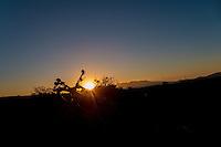 Bike in sunset, Atacama, Chile