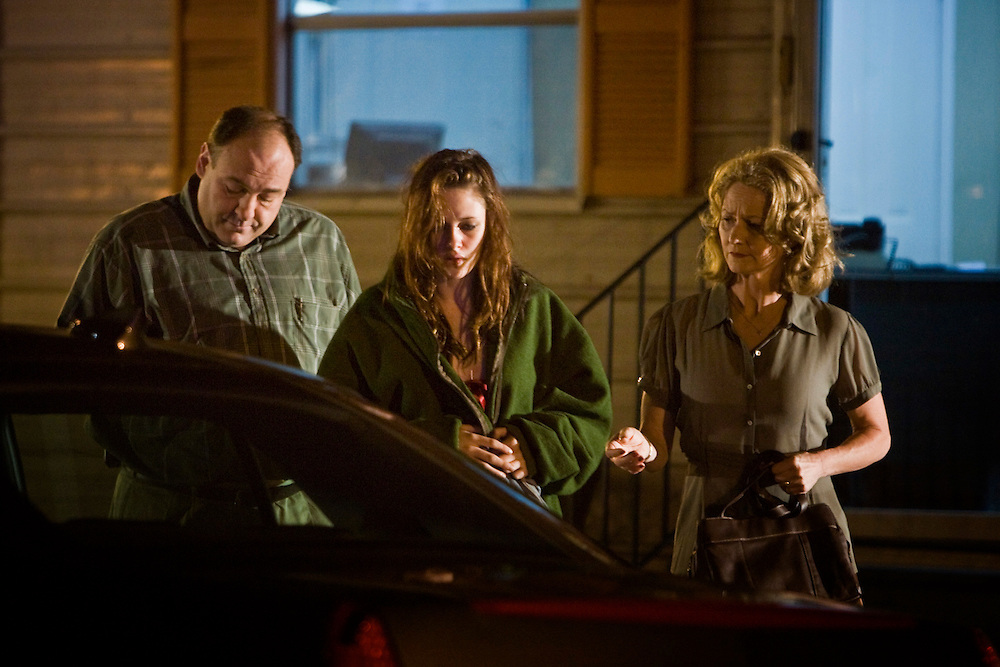 """James Gandolfini, Kristen Stewart and Melissa Leo in Sony Pictures' """"Welcome To The Rileys."""""""