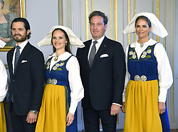 June 6, 2017 - Stockholm, Sweden - PRINCE CARL PHILIP, PRINCESS SOFIA, CHRISTOPHER O'NEILL and PRINCESS MADELEINE attend the National Day reception at Royal Palace. (Credit Image: © Karin Tarnblom/IBL via ZUMA Press)