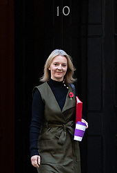 © Licensed to London News Pictures. 06/11/2018. London, UK. Chief Secretary to the Treasury Liz Truss leaving 10 Downing Street after attending a Cabinet meeting this morning. Photo credit : Tom Nicholson/LNP
