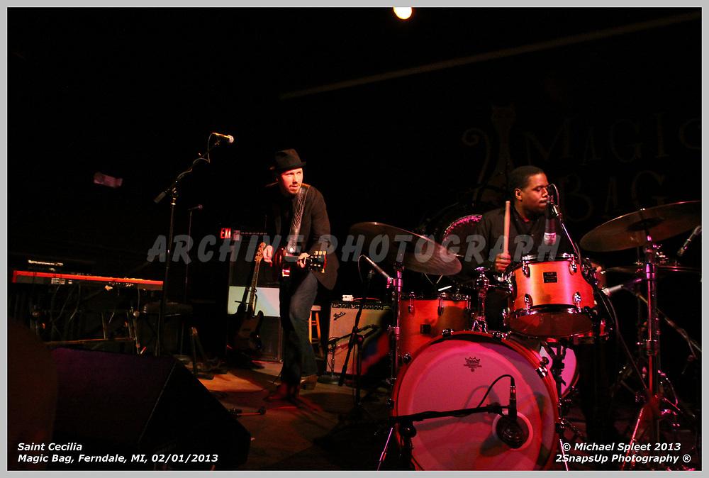 FERNDALE, MI, FRIDAY, FEB. 01, 2013 : Saint Cecilia,  at Magic Bag, Ferndale, MI, 02/01/2013.  (Image Credit: Michael Spleet / 2SnapsUp Photography)