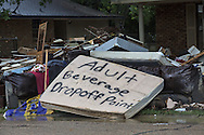 Aug. 27, Contents removed from a flooded home in Denham Springs Louisiana following a 1000 year flood that impacted numerous parishes in Southern Louisiana.