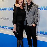 NLD/Rotterdam/20121015- Premiere De Marathon, Marian Mudder en Jeroen, een vriend