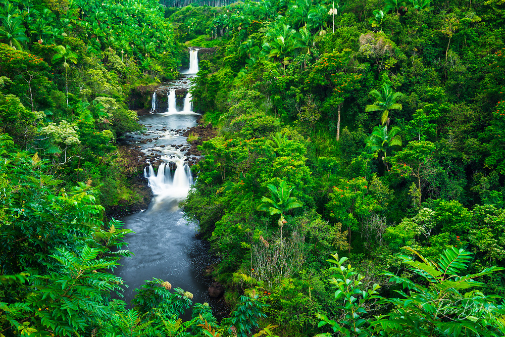 Umauma Falls along the lush Hamakua Coast, The Big Island, Hawaii USA