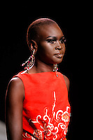 Alek Wek walks the runway  at the Christian Dior Cruise Collection 2008 Fashion Show