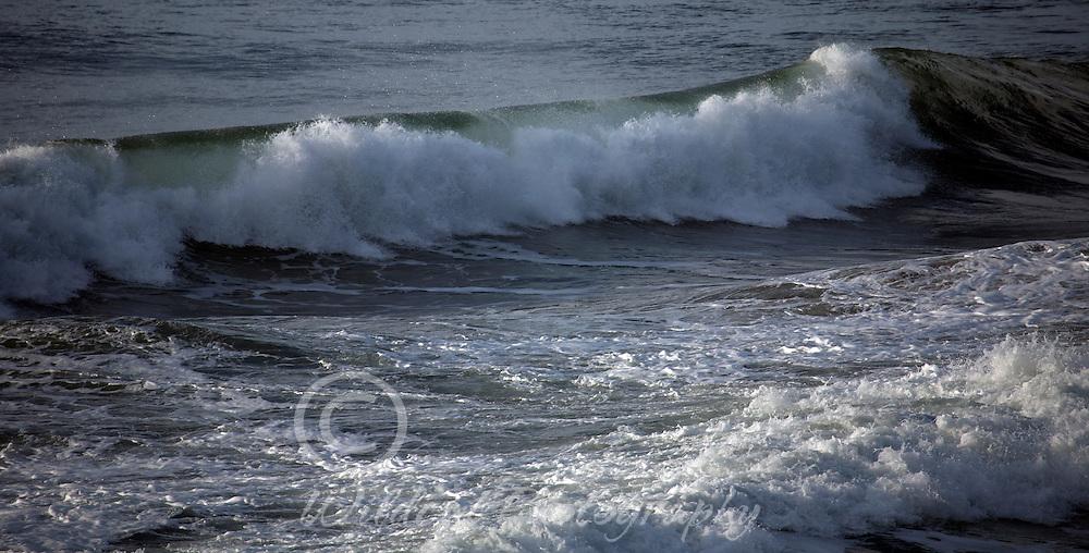Ocean wave at high tide.