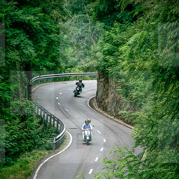 Mountain road in Switzerland