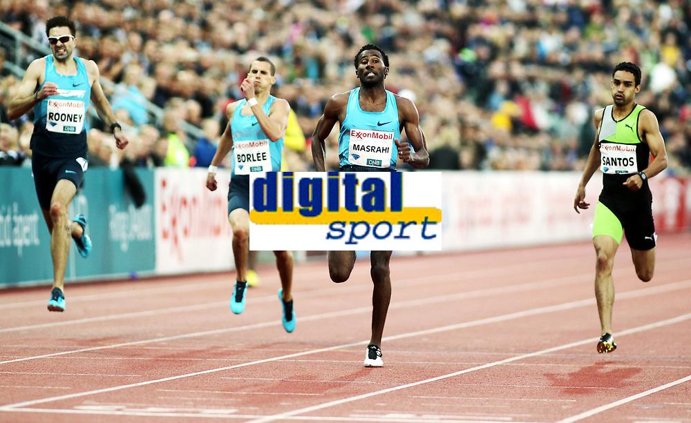 Friidrett , 13. juni 2013 , Diamond League , Bislett Games<br /> Athletics<br /> Martyn Rooney ,GBR<br /> Kevin Borlee , BEL<br /> Youssef Ahmed Masrahi , KSA<br /> Luguelin Santos , DOM<br /> 400 m