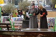 """Prinses Maxima is aanwezig bij de opening van de internationale kunstmanifestatie 'Ja Natuurlijk - hoe kunst de wereld redt' in en om het Gemeentemuseum, het GEM en het Fotomuseum in Den Haag. <br /> <br /> Princess Maxima attends the opening of the international art 'Yes of course - how art saves the world """"and to the Municipal Museum, the GEM and the Photography Museum in The Hague.<br /> <br /> Op de foto / On the photo:  Prinses Maxima / Princes Maxima"""