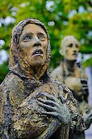 République d'Irlande, Dublin, Famine Monument commemorant la grande famine de 1845-1849 faisant 1 million de mort, sculture de Rowan Gillespie // Republic of Ireland, Dublin, Famine Monument commemorating the great famine of 1845-1849 killing 1 million, sculpture by Rowan Gillespie
