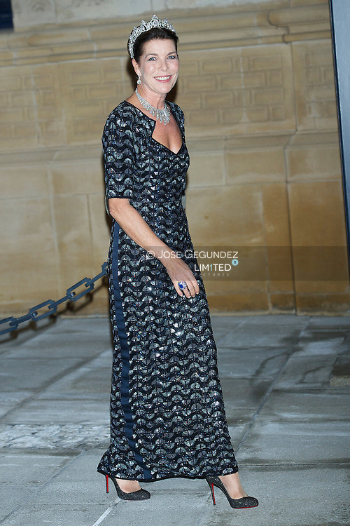 HRH Princess Caroline of Hanover attend a Gala dinner for the wedding of HRH Guillaume the Hereditary Grand Duke and Countess Stephanie de Lannoy at Palais Grand-Ducal on October 19, 2012 in Luxembourg