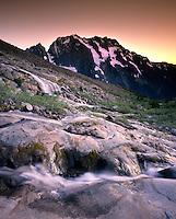 JOHANNESBURG MOUNTAIN FROM BOSTON BASIN, NORTH CASCADES NATIONAL PARK WASHINGTON