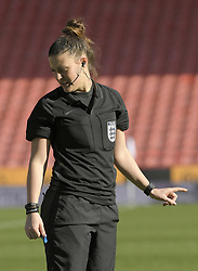 February 23, 2019 - Sheffield, England, United Kingdom - Match Referee Lucy Oliver during the  FA Women's Continental League Cup Final  between Arsenal and Manchester City Women at the Bramall Lane Football Ground, Sheffield United FC Sheffield, Saturday 23rd February. (Credit Image: © Action Foto Sport/NurPhoto via ZUMA Press)